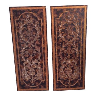 Wood Fish Art Hangings - A Pair