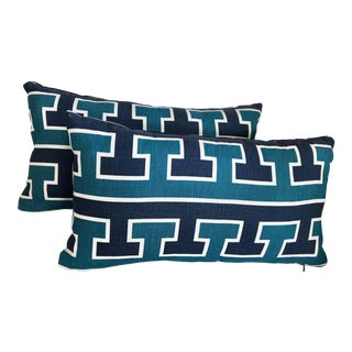 Schumacher Studio Bon Lumbar Pillows - A Pair