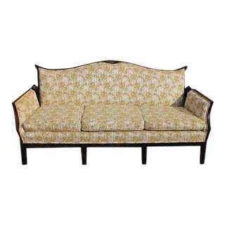 Traditional Carved Asian Chinoiserie Sofa