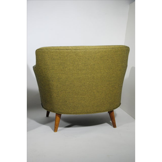 Mid-Century Extra Wide Occasional Green Chairs - Image 5 of 5