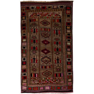 """Tribal Hand Knotted Area Rug - 5'5"""" X 9'3"""""""