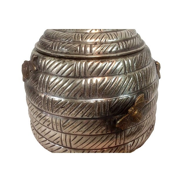 Hive Shaped Metal Canister - Image 2 of 3