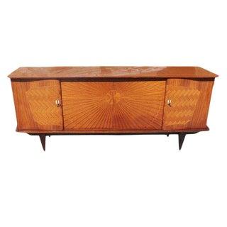French Art Deco Exotic Rosewood Sunburst Sideboard / Buffet Circa 1940s