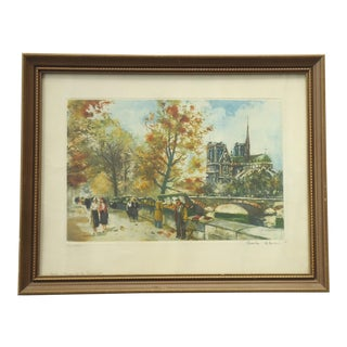 Charles Blondin Bouquinistes on the Seine Print