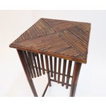 Image of Dark Brown Bamboo Pedestal