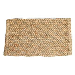 "Hand Braided Gold Entrance Mat - 1'6"" X 2'6"""