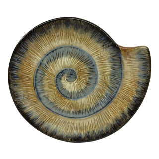 Ammonite Ceramic Serving Plate
