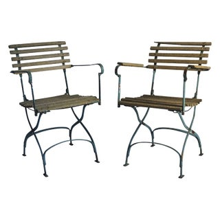Classic French Bistro Chairs- Pair