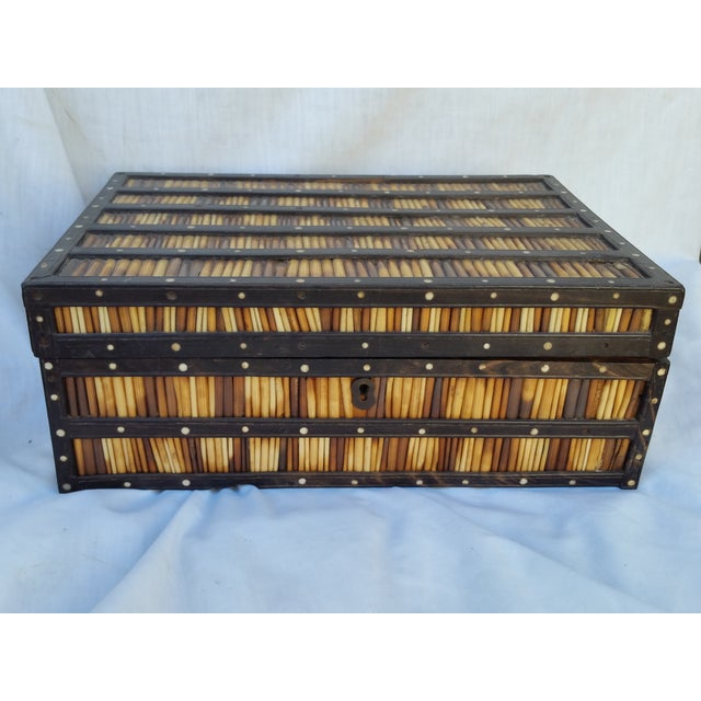 Anglo Indian Edwardian Porcupine Quill Box - Image 2 of 3