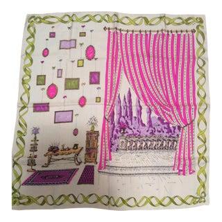 Vintage Early Emilio Pucci Lg Silk Scarf