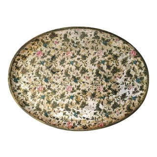 Antique Floral Papered Tray