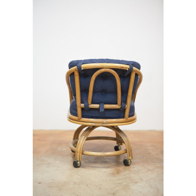 Image of Rattan Rolling Dining Chairs - Set of 4