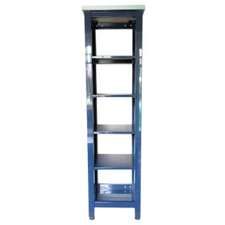 Pottery Barn Blue Metal Bookcase