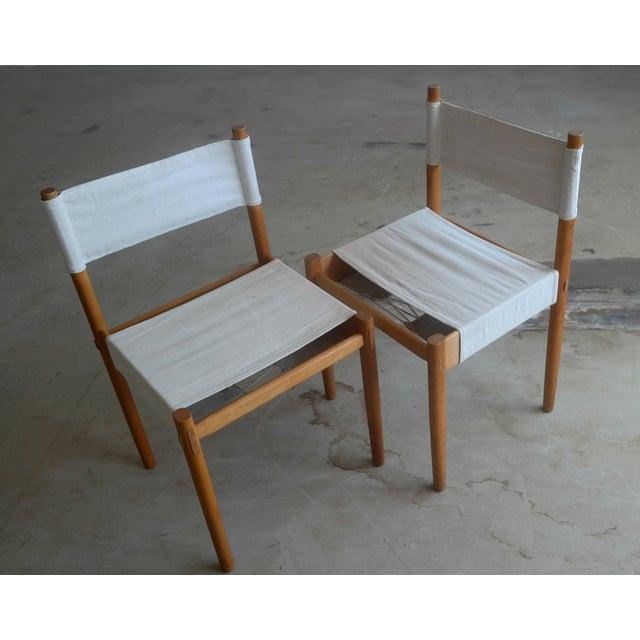 Danish Modern White Dining Chairs - Set of 6 - Image 4 of 10