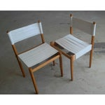 Image of Danish Modern White Dining Chairs - Set of 6