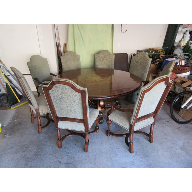 19th C. Walnut & Stellar Parq Nook Table -Set of 9 - Image 2 of 5