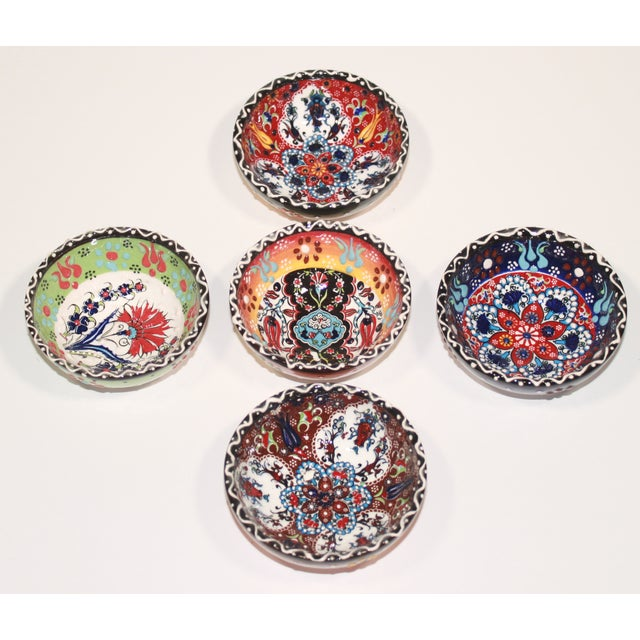 Turkish Tile Bowls - Set of 5 - Image 5 of 6