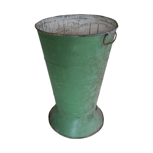 1900s French Antique Flower Bucket - Image 1 of 3