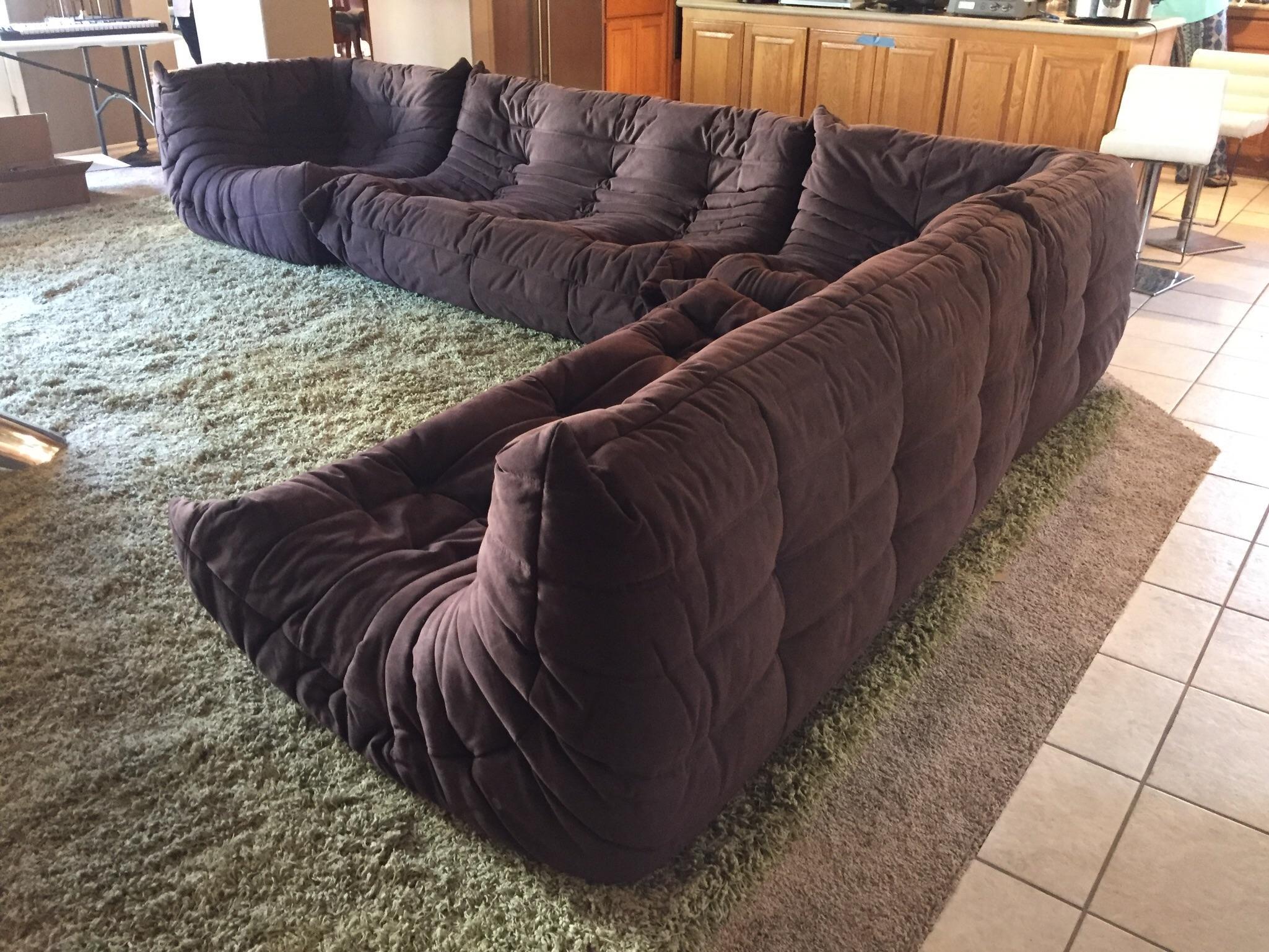 Ligne Roset Togo 4 Piece Espresso Sectional Sofa - Image 2 of 8  sc 1 st  Chairish : togo sectional - Sectionals, Sofas & Couches