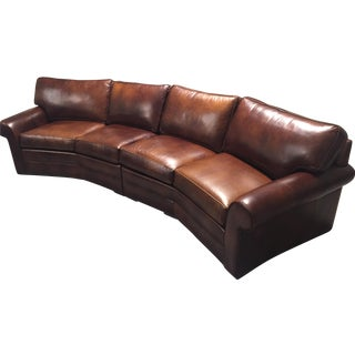 Ethan Allen Leather Two-Piece Sofa
