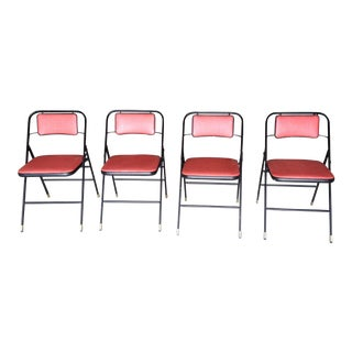 Samsonite Mid-Century Folding Bridge Chairs - Set of 4