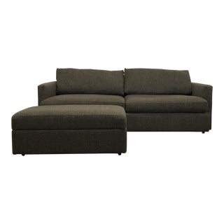 Axis II 3-Seat Sofa with Storage Ottoman