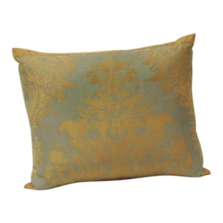 Fortuny Vintage Decorative Pillow in Orange and Gray Tones