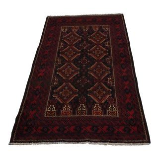 Vintage Persian Rug Hand-Knotted Wool Rug - 3'4 x 7'3