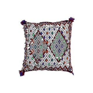 Purple & Lime Green Diamond Pattern Berber Sham
