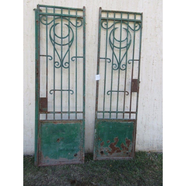 Antique Victorian Iron Gates - A Pair - Image 7 of 8