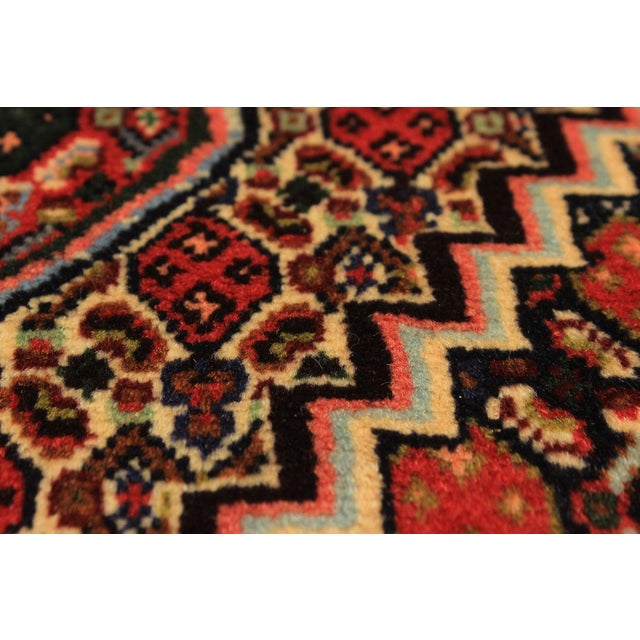 "Senneh Persian Kurdish Rug, 4'0"" x 5'1"" - Image 2 of 2"