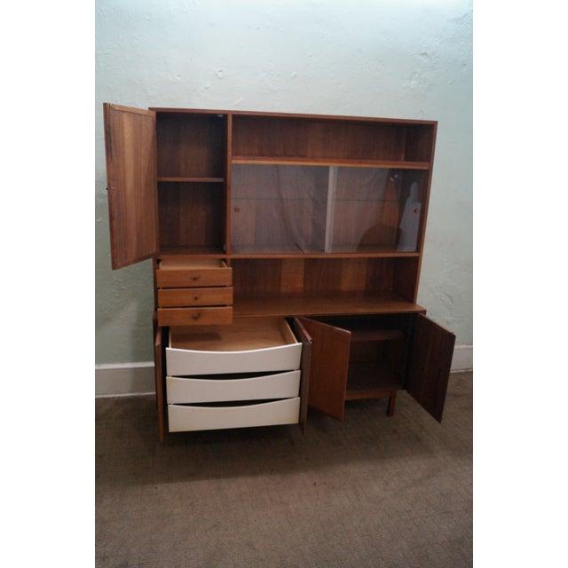 Danish Modern Style Teak Buffet Base Hutch Cabinet - Image 2 of 10