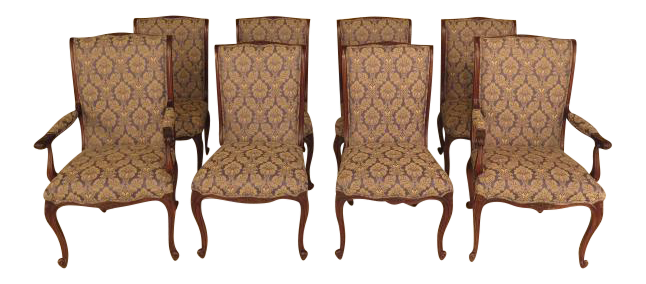 EJ Victor French Style Dining Room Chairs   Set Of 8