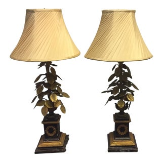 Antique French Bronze Lamps - Pair