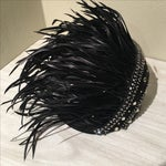 Image of Vintage Feather & Rhinestone Hat