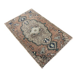 Antique Tribal Oushak Hand Knotted Turkish Rug - 1′8″ × 2′8″