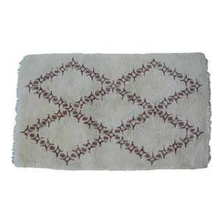 Vintage Moroccan Wool Rug - 3′2″ × 5′