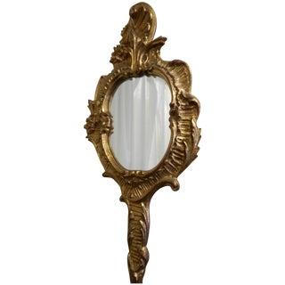 Vanity-Style Florentine Gilt Wall Mirror