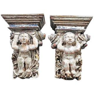 Pair of Early 18th Century Portuguese Corbels