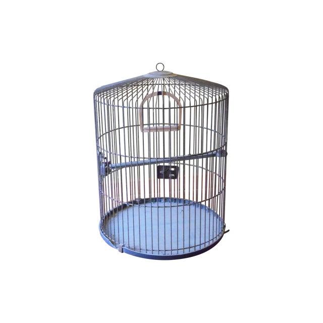 Vintage Metal Bird Cage - Image 1 of 5