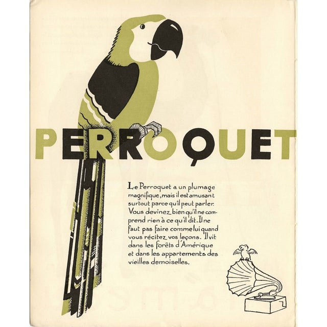1930s French Art Deco Parrakeet Giclée Print - Image 2 of 2