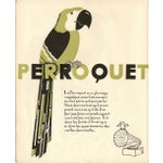 Image of 1930s French Art Deco Parrakeet Giclée Print