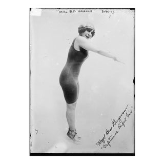 Early 1900's Hazel Bess Renowned Swimmer Print