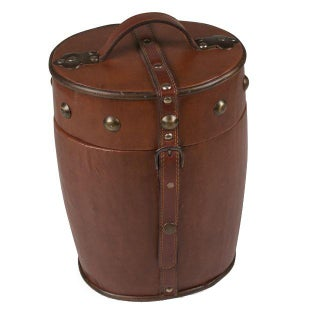 Leather Clad Wood Lined Wine Cooler, French, circa 1950