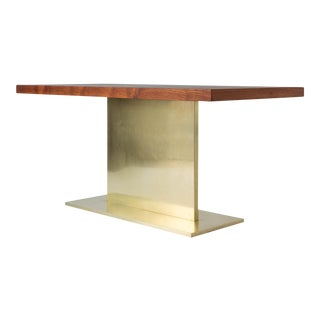 Warren Platner Desk on Polished Bronze Pedestal