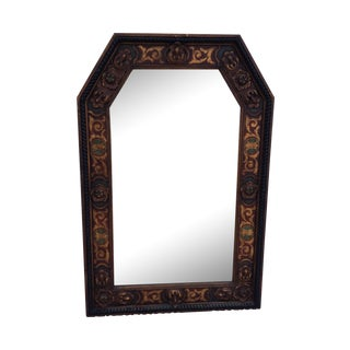 1950s Carved Wood French Mirror