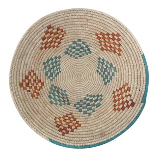 Turquoise & Rust Patchwork Basket
