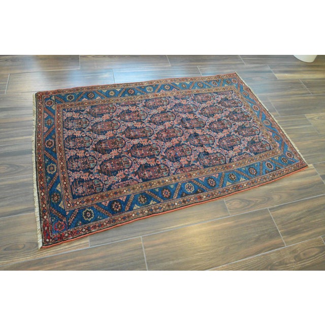 "Paisley Antique Persian Malayer Rug - 3'10"" X 6'4"" - Image 3 of 8"