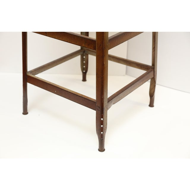 French Upholstered Industrial Stool - Image 5 of 5