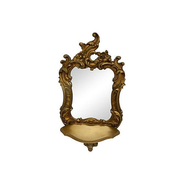 Image of Rococo-Style Shelves Mirrors - A Pair